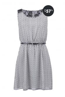Čierno-biele vzorované letné šaty s čipkou ONLY