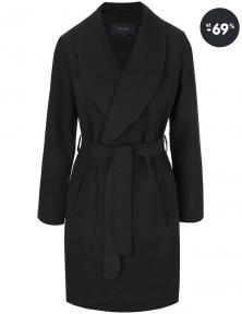 Čierny dámsky kabát Ida