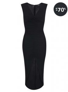 Dlhé spoločenské šaty lacno AX Paris čierne