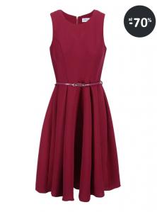 Krátke šaty do spoločnosti Closet malinové