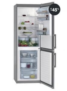 Lacná chladnička s mrazničkou AEG (strieborná farba)