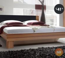 Manželská posteľ (dvojposteľ), farba orech