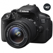Výpredaj - fotoaparát digitálny Canon EOS 700D čierny