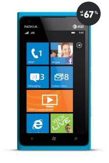 Výpredaj mobilov -  telefón Nokia Lumia 900 modrý