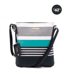 Zeleno-čierna menšia kabelka cez plece Gionni