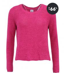 Zľavy na dámske oblečenie - malinovo ružový sveter Vero Moda