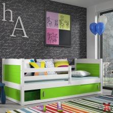 Farebná detská posteľ