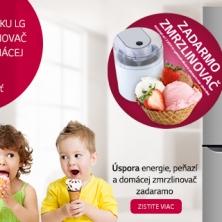 Zmrzlinovač zadarmo k chladničke LG
