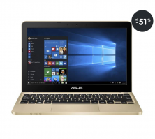Notebook do 300 EUR Asus Eeebook E200HA zlatý