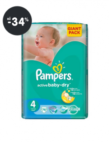 Plienky (akcia) Pampers Active Baby-dry