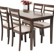 Stôl + 4 stoličky BJERT farba kávy - 1 set 120,- €