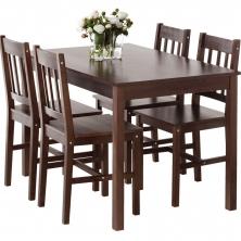 Stôl + 4 stoličky TYLSTRUP farba kávy - 1 set 110,- €