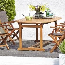Stôl GRIMSTAD D190/230cm+4 stoličky MORA - 1 set 349,- €