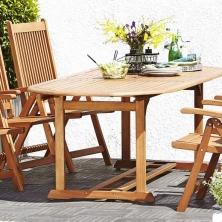 Stôl GRIMSTAD D230+4 kreslá KERTEMINDE - 1 set 365,- €