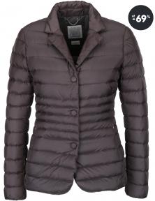 Výpredaj - Sivá dámska bunda s gombíkmi