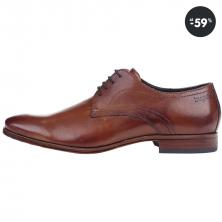 Výpredaj - topánky pánske hnedé kožené poltopánky