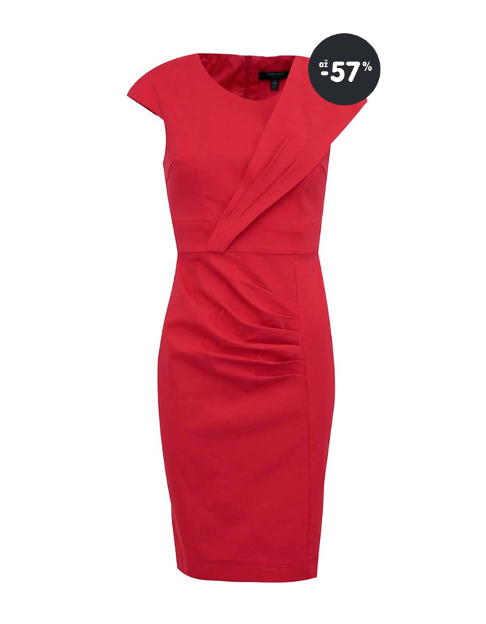 40c3726f77f0 Výpredaj letné šaty mentolové s bielymi kvetmi Closet Akcia - červené letné  šaty Fever London ...