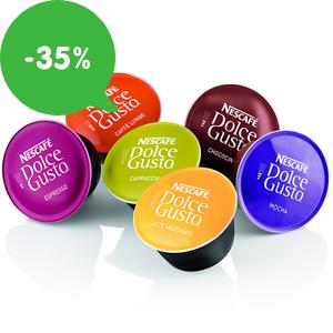 AKCIA: Najlacnejšie kapsule Dolce Gusto (Nescafé) so zľavou až 35% v HEJ