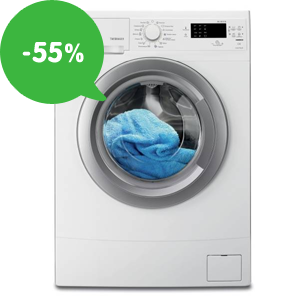 Akcia: Najlacnejšie práčky – zľavy až 55% a doprava zadarmo