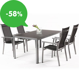 Akcia: Záhradný nábytok vo výpredaji so zľavou až 58%