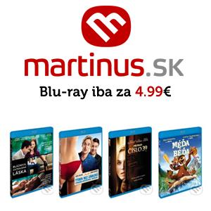 Letná akcia eshopu Martinus.sk – vybrané blu-ray tituly za 4.99 €
