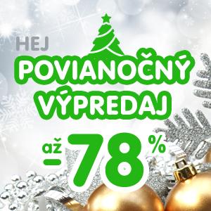 Výpredaj: Povianočné zľavy v HEJ až 78% a doprava zadarmo