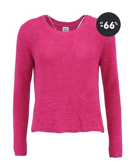 13342a0a5 Zľavy na dámske oblečenie - malinovo ružový sveter Vero Moda ...